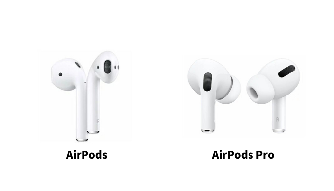 AirPods ProとAirPodsの形状の違い
