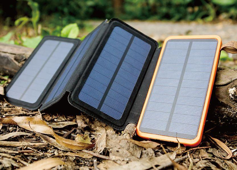 ソーラーモバイルバッテリーのサイズ