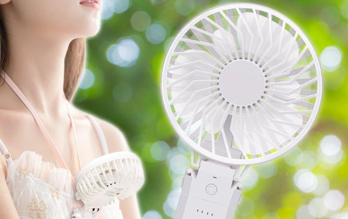 首かけ対応 ハンディ扇風機