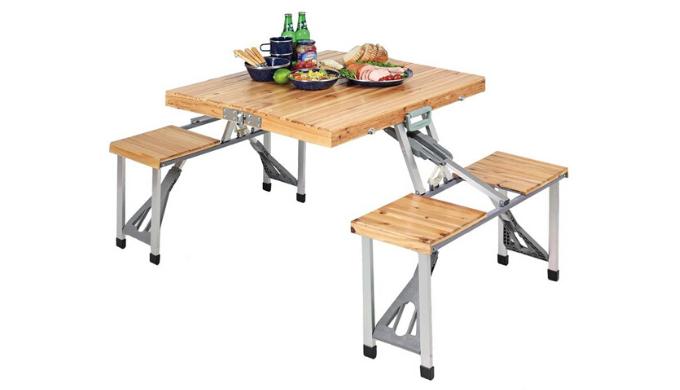 CAPTAINSTAG(キャプテンスタッグ) 杉製ピクニックテーブル ナチュラル