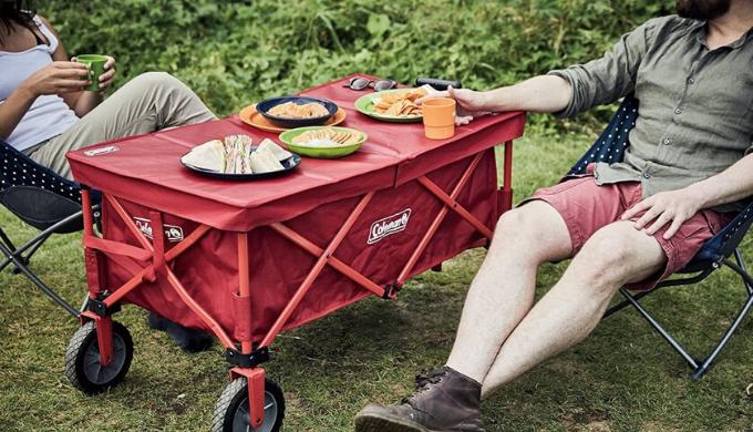 コールマン アウトドアワゴン テーブル