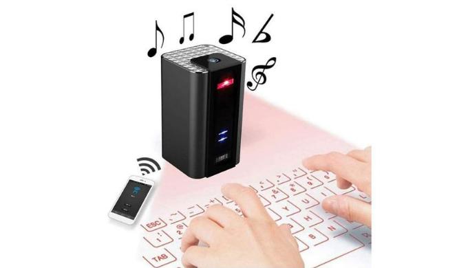 オーディオ機能付き レーザーキーボード