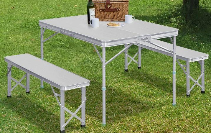 折りたたみテーブルのおすすめランキング3位: FIELDOOR(フィールドア) アウトドアテーブル